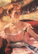 Mary Cassatt Lydia in a Loge Wearing a Pearl Necklace oil painting picture wholesale