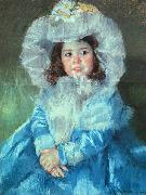 Mary Cassatt Margot in Blue oil painting picture wholesale