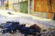 Maximilien Luce A Paris Street in May 1871(The Commune) oil painting picture wholesale
