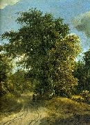 Meindert Hobbema Woodland Road oil painting artist