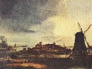 NEER, Aert van der Landscape with Windmill sg oil painting artist