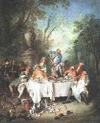 Nicolas Lancret Luncheon Party oil painting picture wholesale