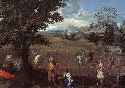 Nicolas Poussin The Summer  Ruth and Boaz oil painting artist