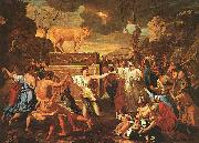 Nicolas Poussin The Adoration of the Golden Calf oil painting picture wholesale