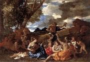Nicolas Poussin Bacchanal Andrians oil painting picture wholesale