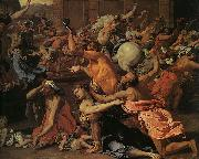 Nicolas Poussin The Rape of the Sabine Women oil painting artist