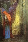 Odilon Redon Winged Old Man with a Long White Beard oil painting