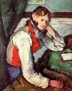 Paul Cezanne Boy in a Red Waistcoat oil painting picture wholesale