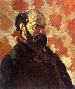 Paul Cezanne Self Portrait on a Rose Background oil painting picture wholesale