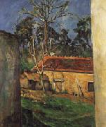 Paul Cezanne Farm Courtyard in Auvers oil painting picture wholesale