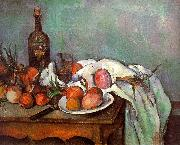 Paul Cezanne Onions and Bottles oil painting picture wholesale