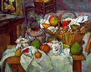 Paul Cezanne Vessels, Basket and Fruit oil painting picture wholesale