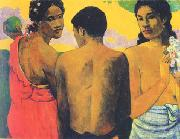 Paul Gauguin Three Tahitians oil painting picture wholesale