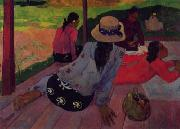 Paul Gauguin Afternoon Rest, Siesta oil painting picture wholesale
