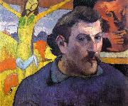 Paul Gauguin Self Portrait with Yellow Christ oil painting picture wholesale