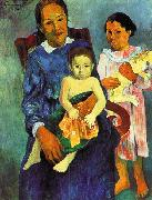 Paul Gauguin Tahitian Woman with Children 4 oil painting picture wholesale