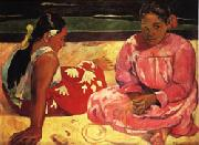 Paul Gauguin Tahitian Women(on the Beach) oil painting picture wholesale