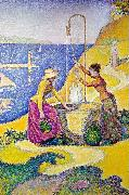 Paul Signac Women at the Well oil