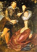 Peter Paul Rubens Rubens with His First Wife, Isabella Brandt, in the Honeysuckle Bower oil painting picture wholesale
