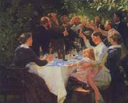 Peter Severin Kroyer Hip Hip Hooray oil painting artist