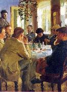 Peter Severin Kroyer The Artists Luncheon oil painting artist