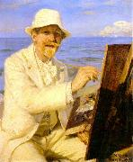 Peter Severin Kroyer Self Portrait  2222 oil painting artist
