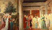 Piero della Francesca Adoration of the Holy Wood and the Meeting of Solomon and Queen of Sheba oil painting picture wholesale