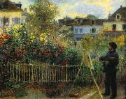Pierre Renoir Monet Painting in his Garden oil painting picture wholesale