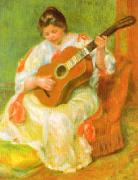 Pierre Renoir Woman with Guitar oil painting picture wholesale