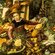 Pieter Aertsen Market Woman  with Vegetable Stall oil painting artist