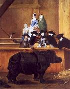 Pietro Longhi Exhibition of a Rhinoceros at Venice oil painting picture wholesale