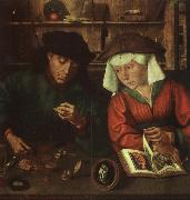 Quentin Massys The Moneylender and his Wife oil painting artist