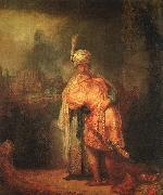 Rembrandt David's Farewell to Jonathan oil painting picture wholesale