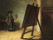 Rembrandt Artist in his Studio oil painting picture wholesale