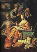 Rembrandt The Music Party oil painting picture wholesale