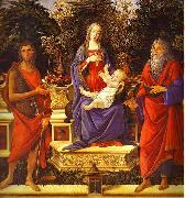 Sandro Botticelli Virgin and Child Enthroned between Saint John the Baptist and Saint John the Evangelist oil painting picture wholesale