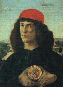 Sandro Botticelli Portrait of a Man with a Medal oil painting picture wholesale