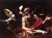 Simon Vouet St Jerome and the Angel oil painting picture wholesale