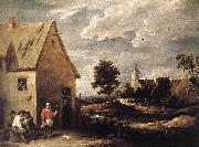 TENIERS, David the Younger Village Scene ut oil painting picture wholesale