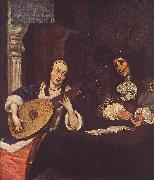 TERBORCH, Gerard Woman Playing the Lute st oil painting picture wholesale