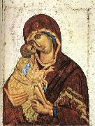THEOPHANES the Greek Madonna of Don Icon nst oil painting artist