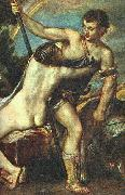 TIZIANO Vecellio Venus and Adonis, detail AR oil painting picture wholesale