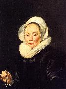 Thomas De Keyser Portrait of a Woman Holding a Balance oil painting artist