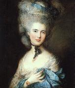 Thomas Gainsborough Portrait of a Lady in Blue 5 oil painting picture wholesale