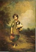 Thomas Gainsborough A Cottage Girl with Dog and Pitcher oil painting picture wholesale