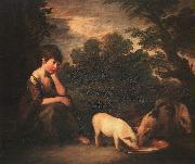 Thomas Gainsborough Girl with Pigs oil painting reproduction