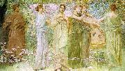 Thomas Wilmer Dewing The Days oil painting artist