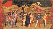 UCCELLO, Paolo Miracle of the Desecrated Host (Scene 4) aet oil painting artist