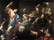 VALENTIN DE BOULOGNE Christ Driving the Money Changers out of the Temple kjh oil painting artist