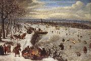 VALKENBORCH, Lucas van View of Antwerp with the Frozen Schelde tg oil painting artist